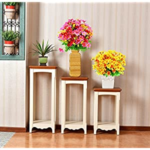 Turelifes 4pcs Artificial Flowers Bouquets Fake Mini Daisy Flower 7 Branches 28 Heads Silk Floral for Office Home Wedding Decoration (Orange) 5