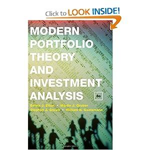 Modern Portfolio Theory and Investment Analysis Edwin J. Elton