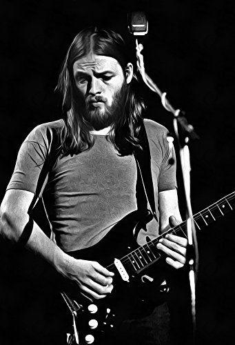 David Gilmour Poster Fine Art Canvas Black And White Print - Pink Floyd
