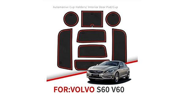 linfei Alfombrilla Antideslizante para Ranura para Volvo S60 V60 ...
