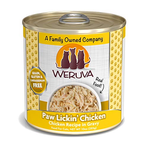 Weruva Classic Cat Food, Paw Lickin? Chicken With Chicken Breast In Gravy, 10Oz Can (Pack Of 12)