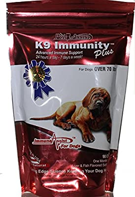 K9 Immunity Plus - Potent Immune Booster for Dogs Over 70 Pounds - 90 Soft Chews by Aloha Medicinals
