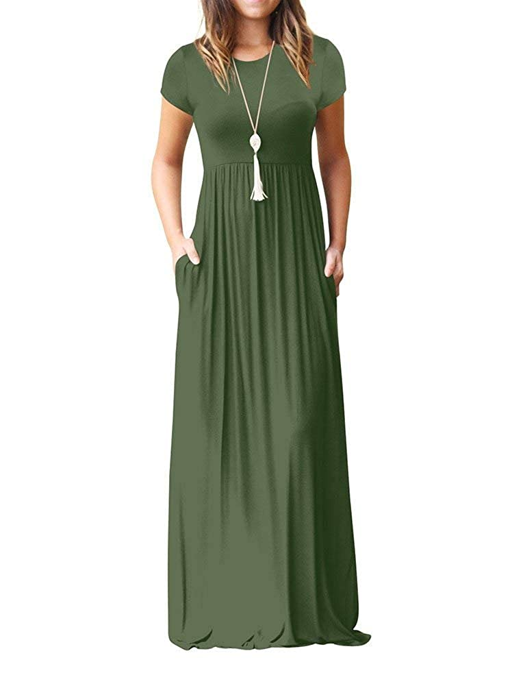 6ba3f2610e Feature: casual style,two side pockets,long sleeves,round neck,floor  length,elastic at waist,not lined,maxi dresses