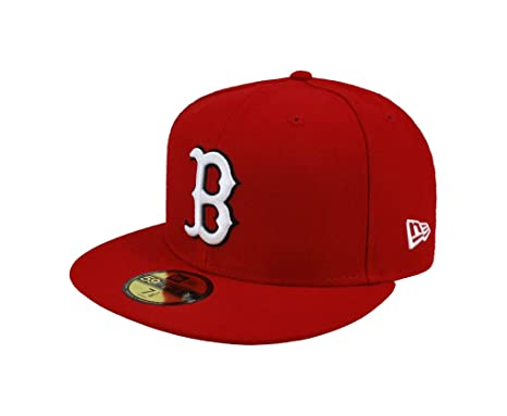 160f8ac4c NEW ERA. 59fifty Men's Hat Boston Red Sox Red Fitted Cap