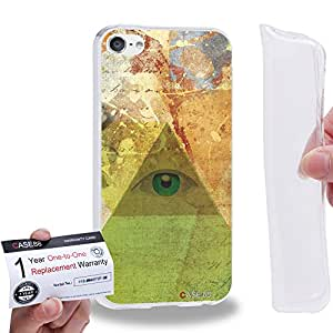 Case88 [Apple iPod Touch 6] Gel TPU Carcasa/Funda & Tarjeta de garantía - Eye Of Divine Providence Pyramids