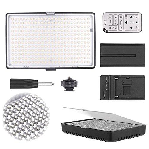 Professional 288 LED 1400 Lumens Video Light with Flash Bracket for Digital SLR Cameras by Teds