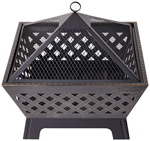 Large Black Firehouse - Landmann 25282 Barrone Fire Pit, 26