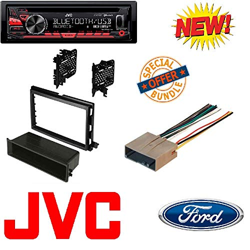 JVC KD-R780BT 1-DIN CD Receiver with Bluetooth and JVC App R