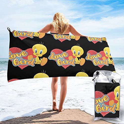 Shenhuakal Quick Dry Towel Love Tweety Bird Fashion Bath Towel Lightweight Washcloth for Beach (Towels Bath Tweety)