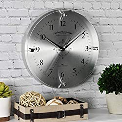 FirsTime & Co. Steel Whisper Wall Clock, 10.5, Metallic Silver