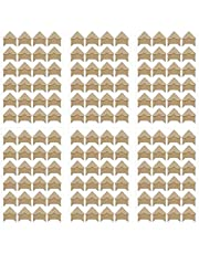 6Sheets(144PCS) Classic Self-Adhesive Paper Photo Corner Stickers Picture Mounting Corners Wall Decoration Sticker DIY Album Accessories for Scrapbooking Personal Journal Dairy Notebook(Kraft Paper)