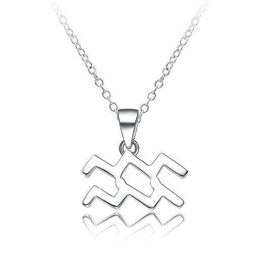 Amazoncom Sahaa 925 Sterling Silver Zodiac Sign Necklace Horoscope
