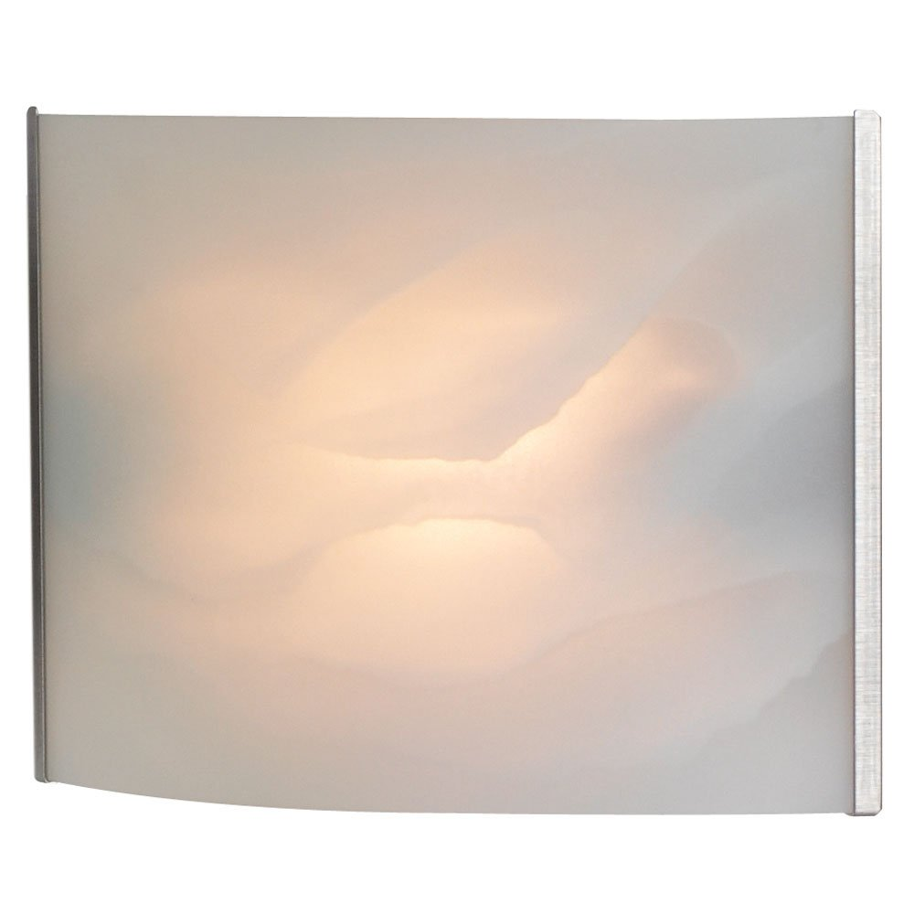 Alico Lighting BV711-6-16 Vanity, Stainless Steel Finish with White Alabaster Glass Shades
