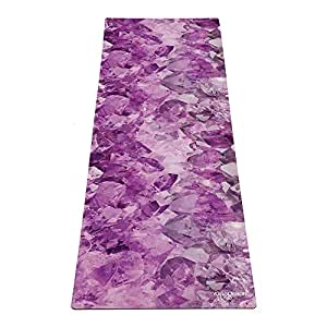 YOGA DESIGN LAB | The Combo Yoga MAT | 2-in-1 Mat+Towel | Eco Luxury | Designed in Bali | Ideal for Hot Yoga, Power, Bikram, Ashtanga, Sweat | Studio Quality | Includes Carrying Strap! (Quartz)
