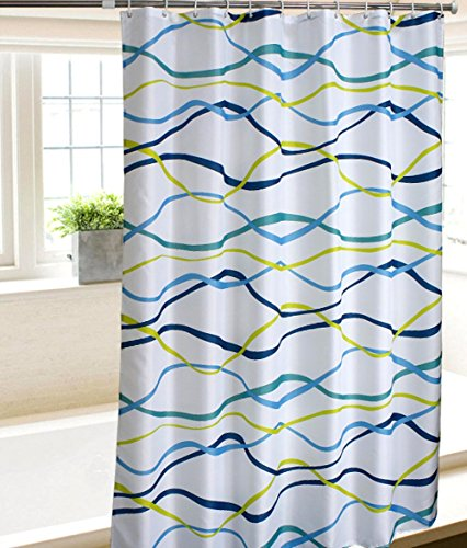 yellow and blue shower curtain - 9