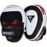 RDX Cowhide Leather Boxing Hook & Jab Punch Pads MMA Strike Shield Thai Kick Focus Punching Mitts Target Training