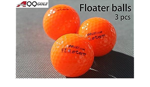 3 piezas A99 Golf flotador bolas flotante con logo naranja gama agua: Amazon.es: Oficina y papelería