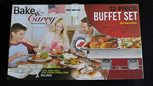 Bake And Carry Disposable Buffet Sets Chafing Dishes Food warmers. Different Sizes available. 12 Piece Buffet Set