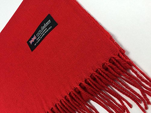 Red_New Fashion Scarf Solid Scotland Made Warm 72