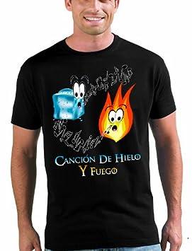 Camiseta Juego de Tronos canción de hielo y fuego - MANGA CORTA XL