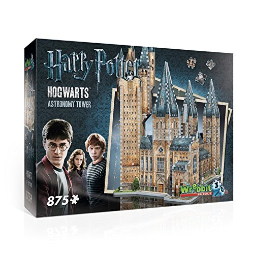WREBBIT 3D Hogwarts Astronomy Tower 3D Jigsaw Puzzle (875 pieces)