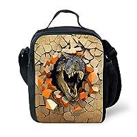 Showudesigns Desinger Print - Bolsa de almuerzo con aislamiento de dinosaurio para escolares
