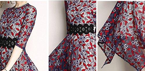 Kleider Cocktailkleid Hohl Kurzarm Spitze Violett Midi Reine Partykleid DISSA YL51609 Kleid Damen Cocktail qxwzAUSA4P