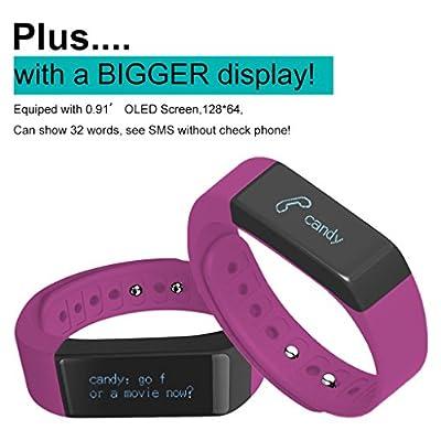 Next-shine Fitness Activities Tracker with Bluetooth Pedometer,Purple