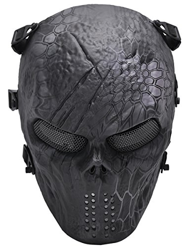 Outgeek Tactical Gear Airsoft Mask Typhon Camouflage Full Face Skull