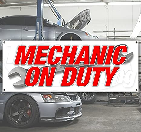 Many Sizes Available Flag, Store AUTO Technician Extra Large 13 oz Heavy Duty Vinyl Banner Sign with Metal Grommets New Advertising