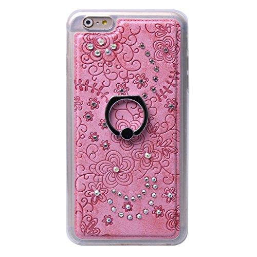 iPhone 6S Plus/iPhone 6 Plus Hülle, Apple iPhone 6S Plus / Apple iPhone 6 Plus Hülle Lifetrust®[ Rosa ] Schutzhülle Flip PU Ledertasche Ständer Schutzhülle Tasche Hülle Case Cover mit Kreditkartenstec