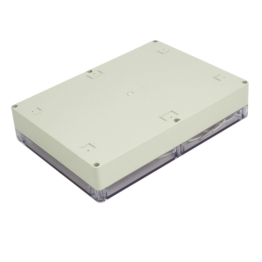 sourcing map Caja de empalmes el/éctricos de 290mm x 210mm x 60mm cubierta transparente ABS a prueba de polvo IP65