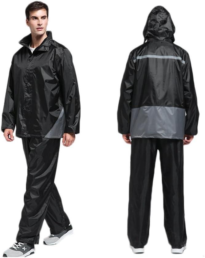 SK Studio Unisex 2 Piece Reflective Waterproof Raincoat Packable Lightweight Rain Suit