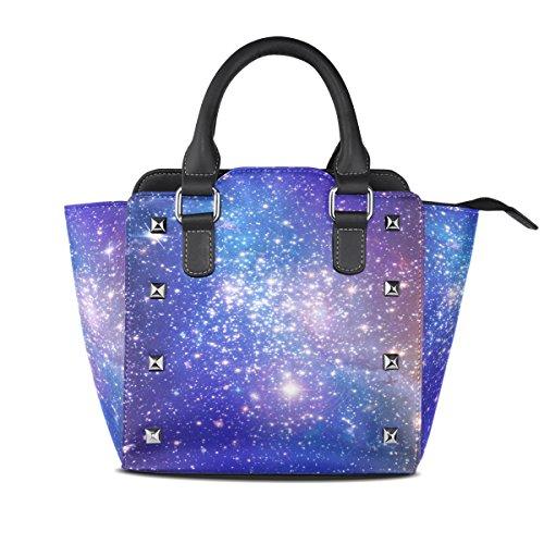 Women's Handbags Stars Bags Far Galaxy Tote Shoulder TIZORAX Nebula Away Leather XtpvqYYx
