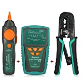 Pro'sKit Network/Coaxial Cables Toner Generator & Probe Kit Cable Tester + 3 Port Modular Crimping Pliers