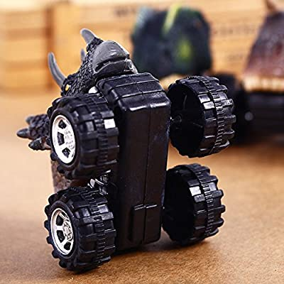 Wffo Pull Back Dinosaur Cars, Dinosaur Model Mini Toy Car Creative Gifts for Children's Day 3-12 Year Old Boys Girls (A): Toys & Games
