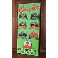 1979 Vintage Baltimore Orioles Media Guide - Canvas Gallery Wrap - 11 x 24