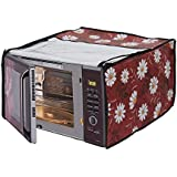Dream Care Floral Printed Microwave Oven Cover for Samsung 28L Convection Oven, 21.5-inch (Multicolour, MC28H5025VB/TL)