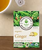 Traditional Medicinals Ginger, Herbal Tea, Organic, 16 CT (48 Wrapped Tea Bags)