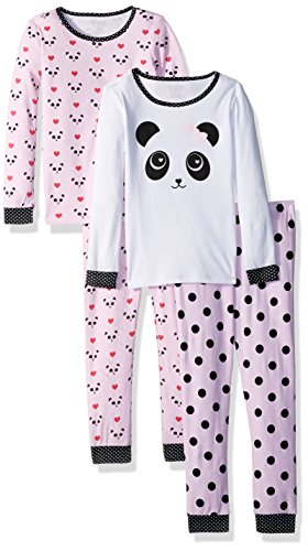 The Childrens Place Baby Girls 4 Piece Pajama Set  Cameo 85257  3 6Months
