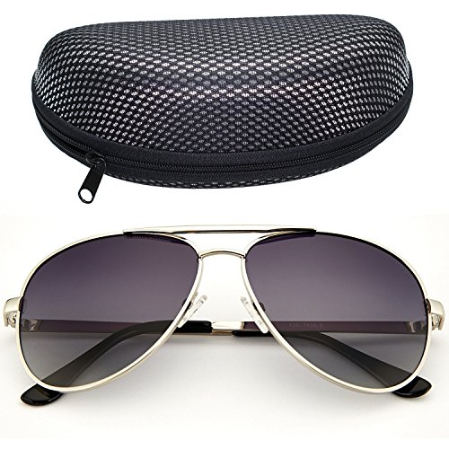 LotFancy Polarized Aviator Sunglasses Protection