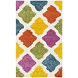 Safavieh Kids Shag Collection SGK562A Ivory and Multi Area Rug (3′ x 5′) Review