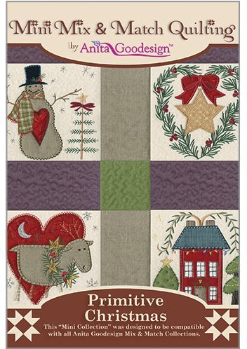 (Anita Goodesign-Primitive Christmas-Mini Mix and Match Quilting-Embroidery Designs )