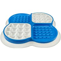 Dog & Cat Slow Feed Bowl with lick mat 2 in 1, Pet Licking Pads for Slower Healthier Eating - Food Plate with Suction…