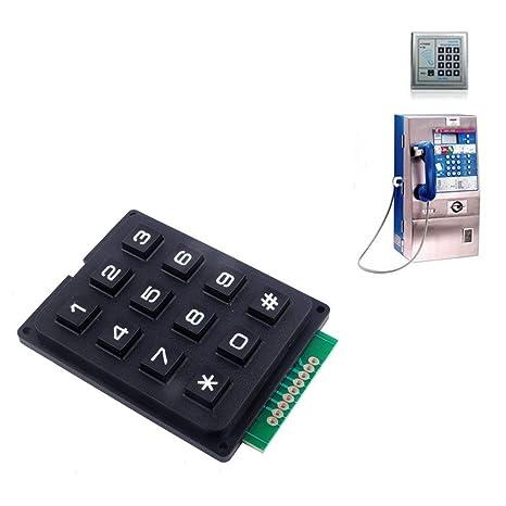 Aihasd 4 X 3 12 Llaves Teclado Teclado de microcontrolador Módulo de Teclado Matrix Array Switch