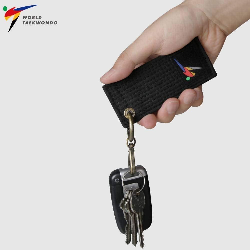 Mooto Korea World Taekwondo Black Belt Mini Key Ring Holder Chain Accessories Keyring Keychain KeyHolder MMA Martial Arts Gym School Academy 1EA