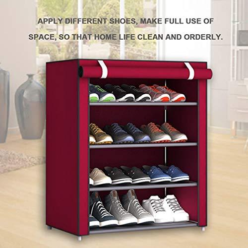 scarpi casa cremagliera Scarpe dormitorio scaffale Scarpe armadietto Letto organizzatore Camera Antipolvere di Tessuto Non da Grandi Scarpe Dimensioni da P0Pqa8
