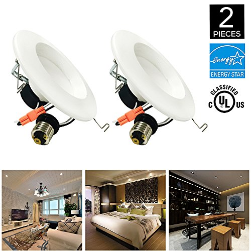 HIKETOLIGHT 6 Inch LED Downlight (5 Inch Compatible), Dimmable, 12W (100W Replacement), Retrofit LED Recessed Lighting Fixture, 4000K (Daylight Glow), CRI90, ENERGY STAR LED Ceiling (5 Light Downlight Chandelier)