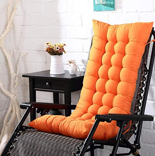 Marbeine - Colchón de cojín para Tumbona, cojín Mate para Silla de Relax, Tumbona de jardín, terraza 48 x 125 x 8 cm, Naranja