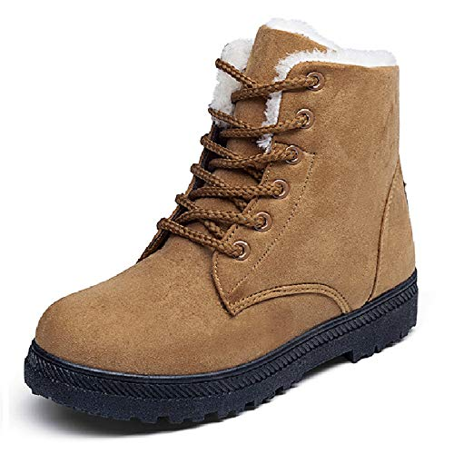 Grande Versión Mujer De Nieve Boots Para Botas Tamaño Piso Y Invierno Coreana Cálidas Martin Liangxie Amarillo Zapatos Algodón Rq1a8wR